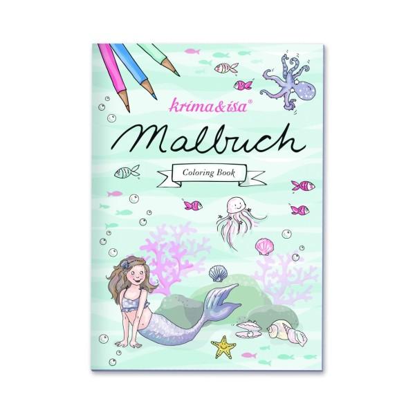 KRIMA Malbuch Meerjungfrau A5