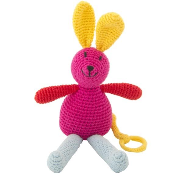 Spieluhr Hase rosa | Spieluhren | Babyausstattung | Schenken und Spielen