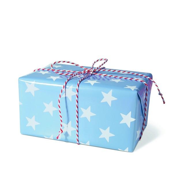 Geschenkpapier Sterne blau
