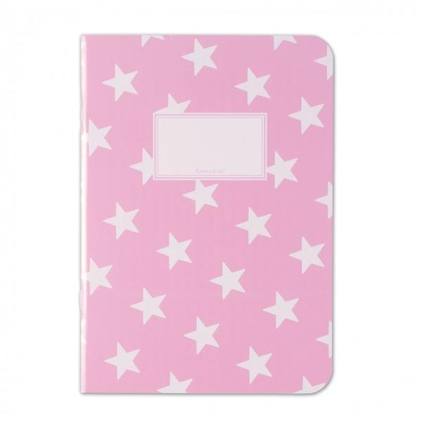 Notizheft Sterne rosa DIN A5