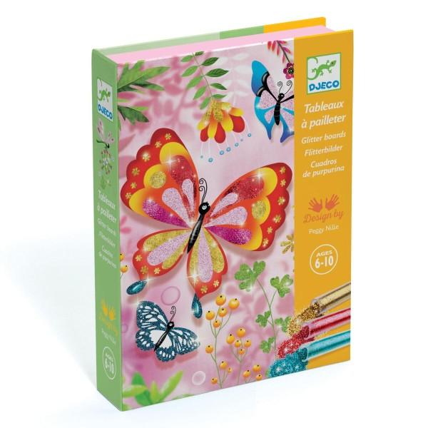Glitzersand Schmetterlinge