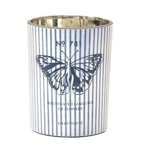 Kerzen Butterfly grey