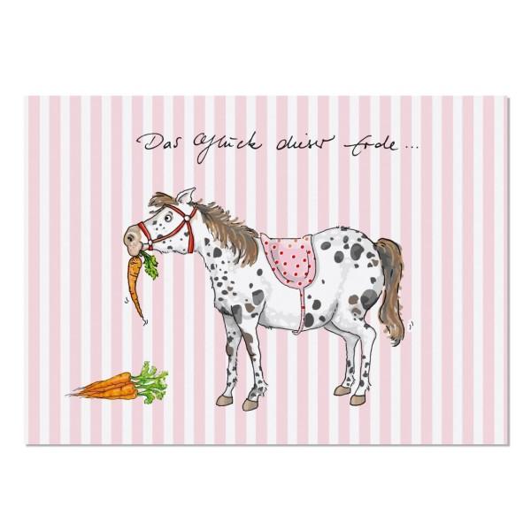 Postkarte Pony