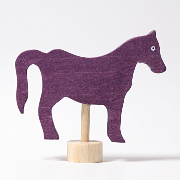 Steckfigur Pferd violett