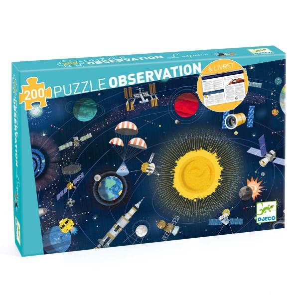 DJECO Puzzle: Der Weltraum - 200 Teile