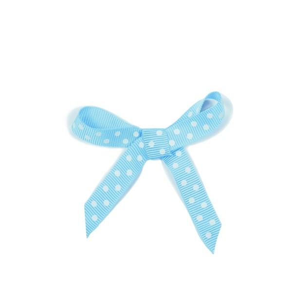 Schleifenband Punkte blau