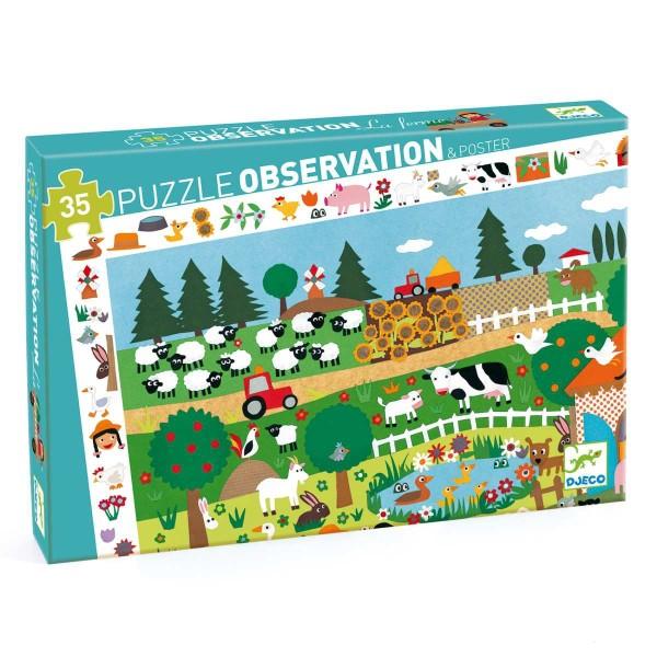 Puzzle Wimmelbild Bauernhof - 35 Teile