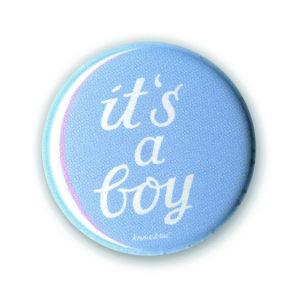 Button it''s a boy