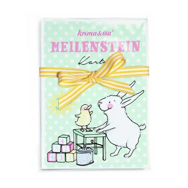 KRIMA Meilenstein-Karte Babytiere