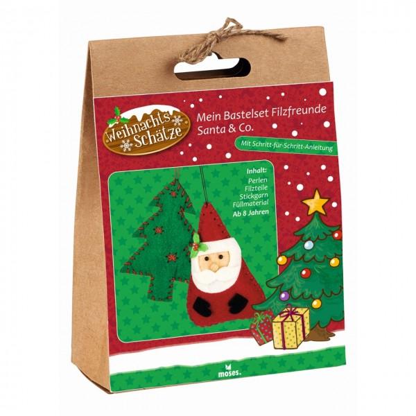 Mein Bastelset Filzfreunde Santa & Co.