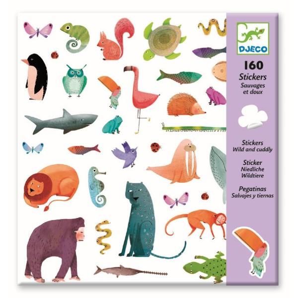 160 Sticker: niedliche Wildtiere