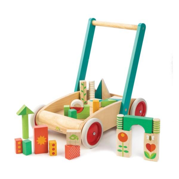 Lauflernwagen Holzklötze
