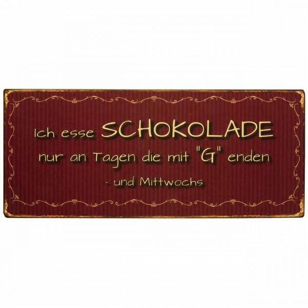 Spruch Schild aus Metall Ich Esse...