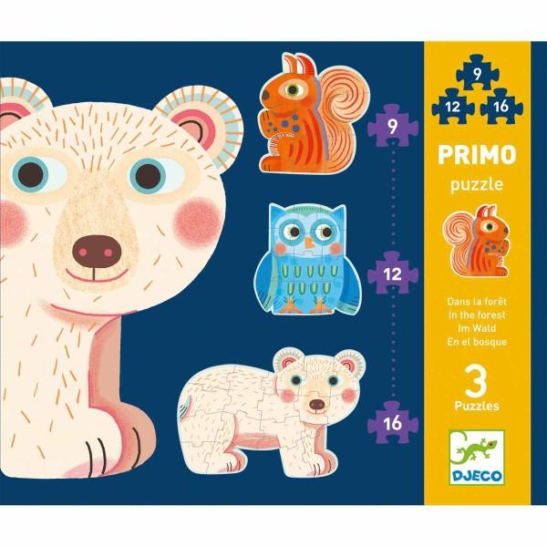 Kombi Puzzle: Im Wald - 9, 12, 16 Teile