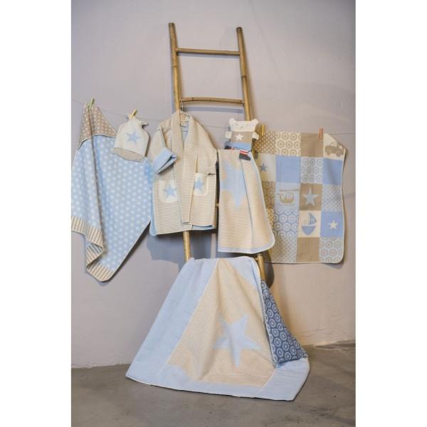 baby krabbeldecke stern hellblau david fussenegger decken lieblingsmarken schenken und spielen. Black Bedroom Furniture Sets. Home Design Ideas