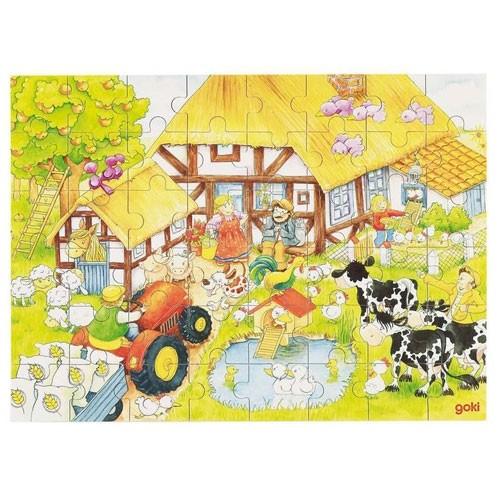 Holzpuzzle Omas Bauernhof 3+