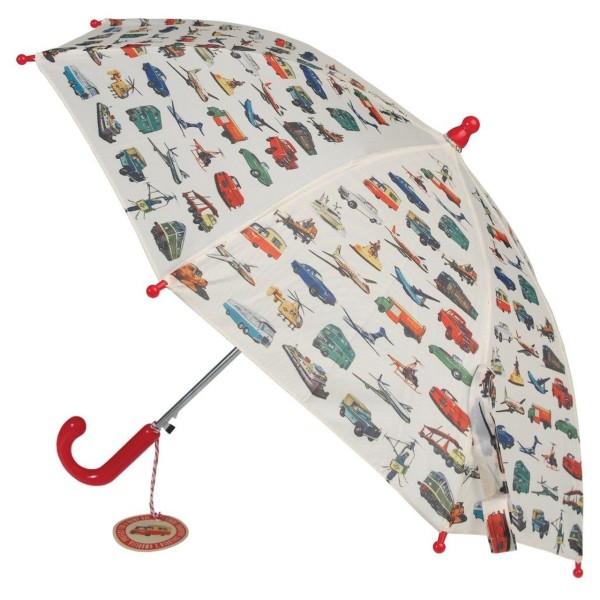 Kinder-Regenschirm Vintage Transport
