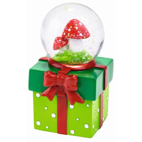 Glück Schneekugel-Geschenkdose