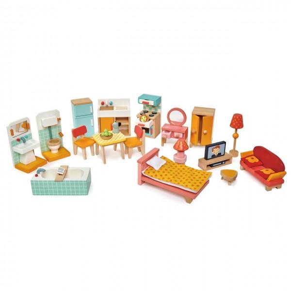 Puppenhaus Möbel Set