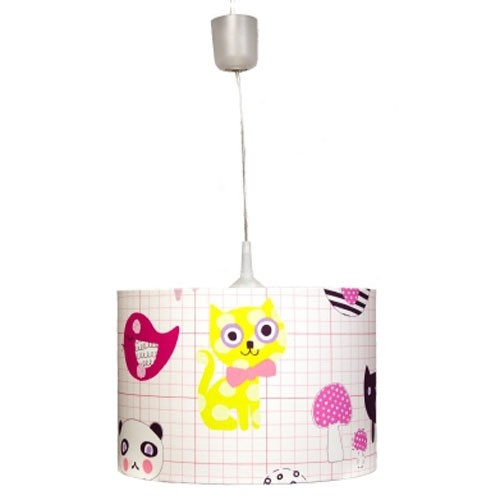 Kinderlampe Best friends pink