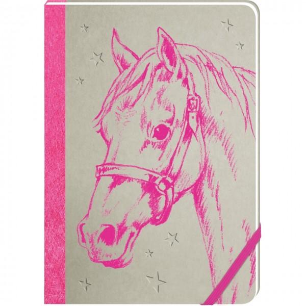 Notizbuch Pferdefreunde pink