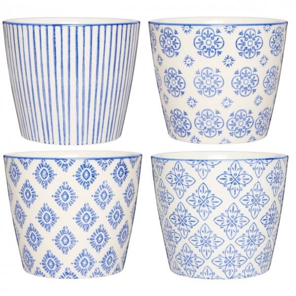 Latte Becher Casablanca blau sortiert