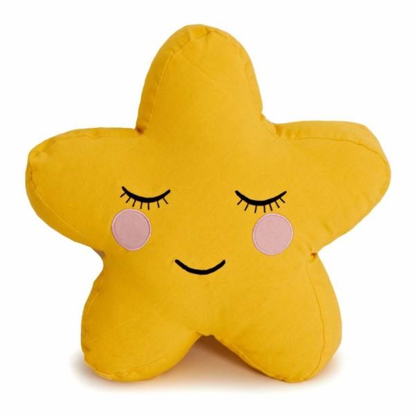 Star Cushion Gelb
