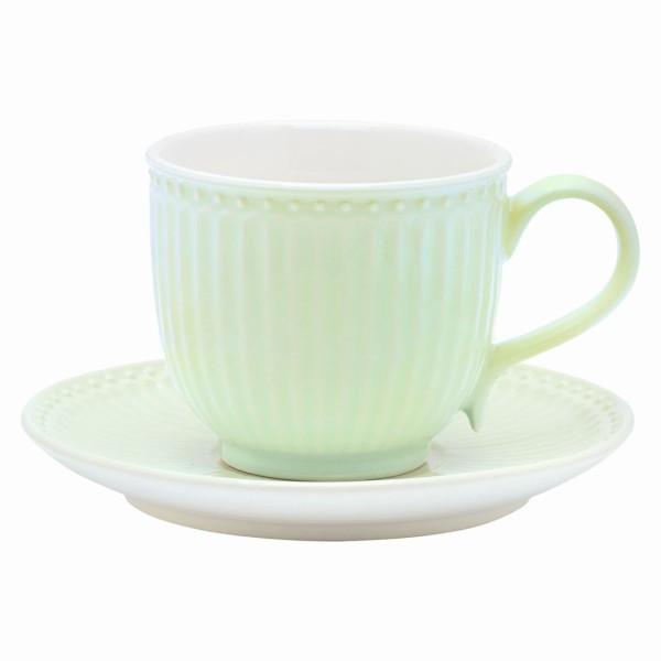Tasse mit Unterteller Alice pale green