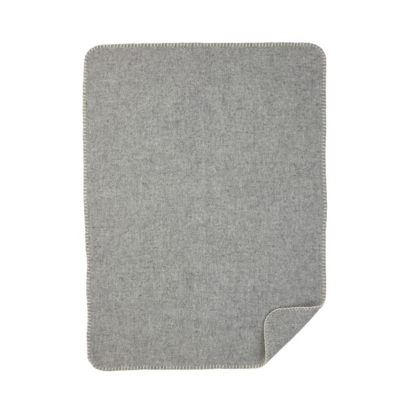 Baby Wolldecke Soft grau