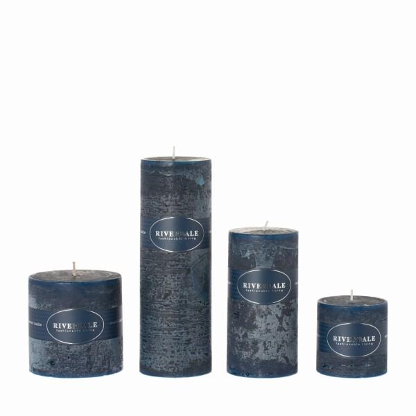 Kerze Nachtblau medium