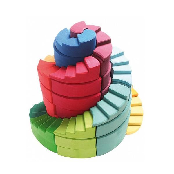 doppelläufige Stufenspirale