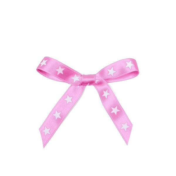 Schleifenband Sterne rosa