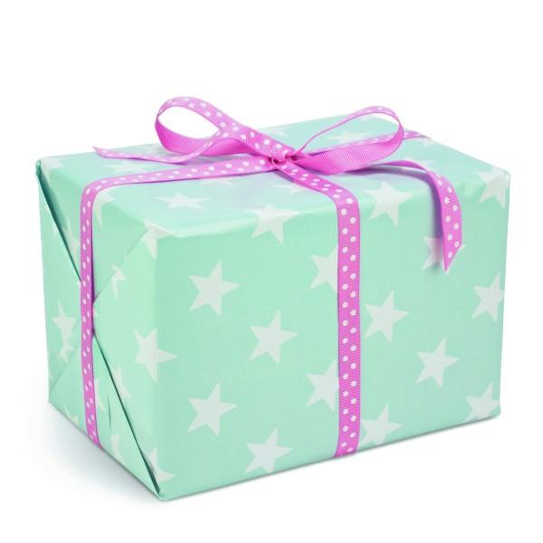 Geschenkpapier Sterne Türkis