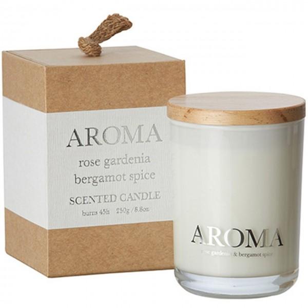 Kerze Aroma rose, gardenia & bergamot M