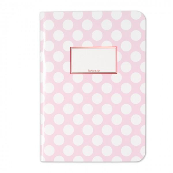 Notizheft Punkte rosa DIN A5