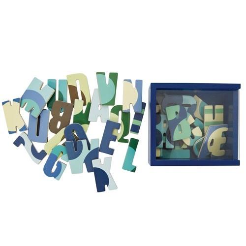 Sebra Magnete Alphabet blau