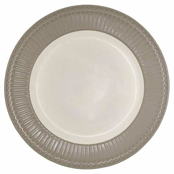 Dinnerteller Alice, warm grey