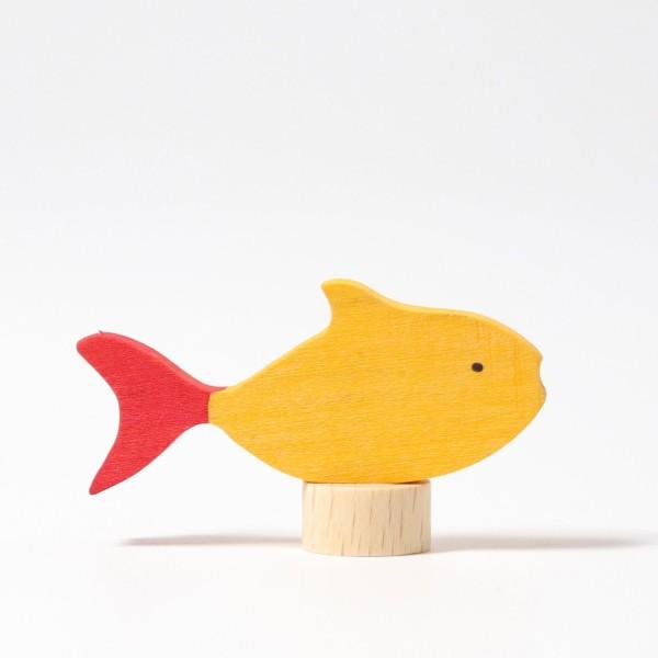 Steckfigur Fisch gelb