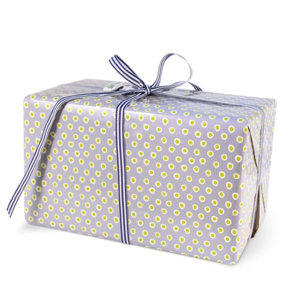 Geschenkpapier Tupfer Lila