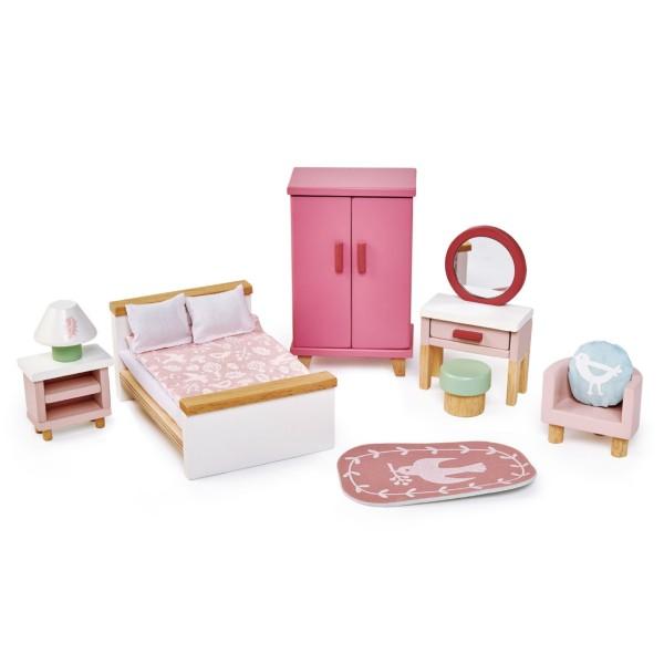 Puppenhaus Schlafzimmer Set