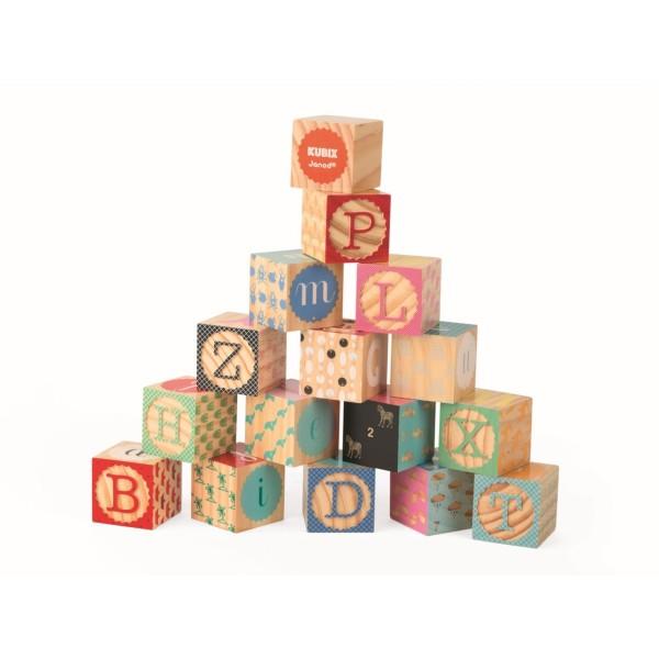 Kubix - 16 Bausteine -Buchstaben