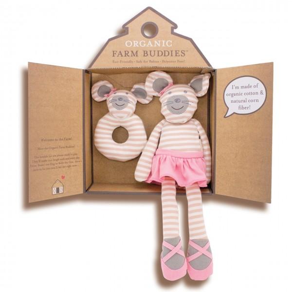 Organic Farmbuddies Ballerina Maus Geschenkset