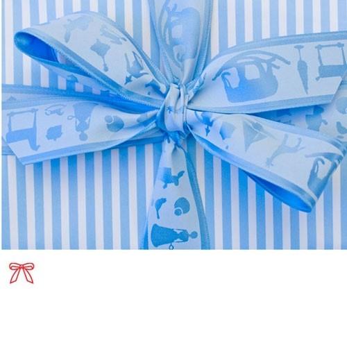 Schleifenband Spielwaren Blau