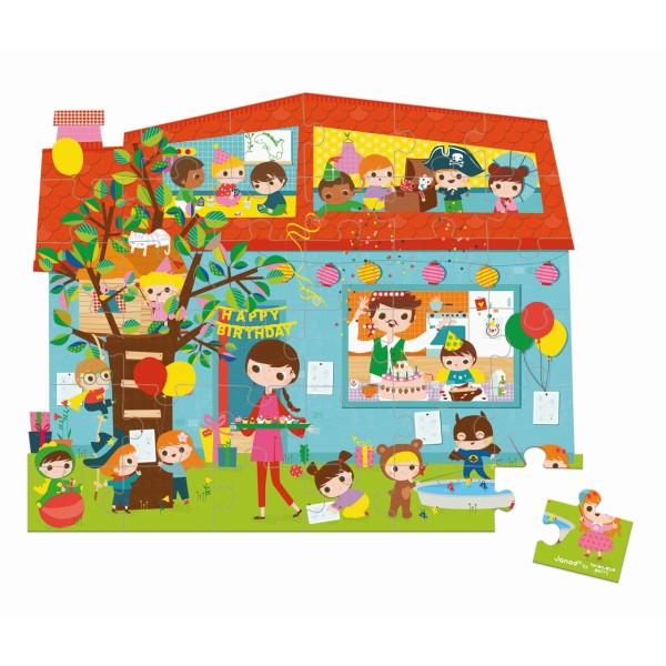 Puzzle Koffer Geburtstagsfeier