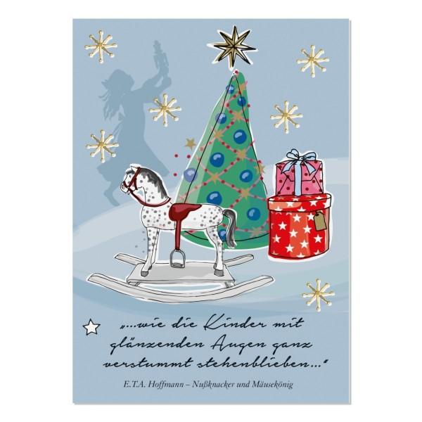 Postkarte Weihnachtsabend