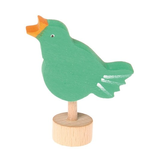 Steckfigur singender Vogel