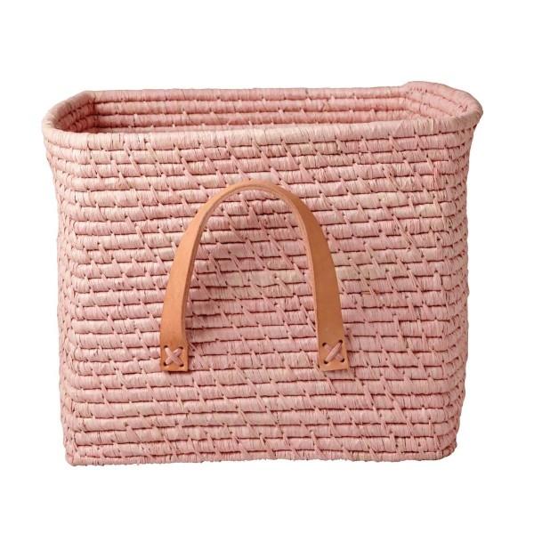Raffia Korb Soft Pink
