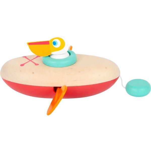 Wasserspielzeug Aufzieh-Kanu Pelikan