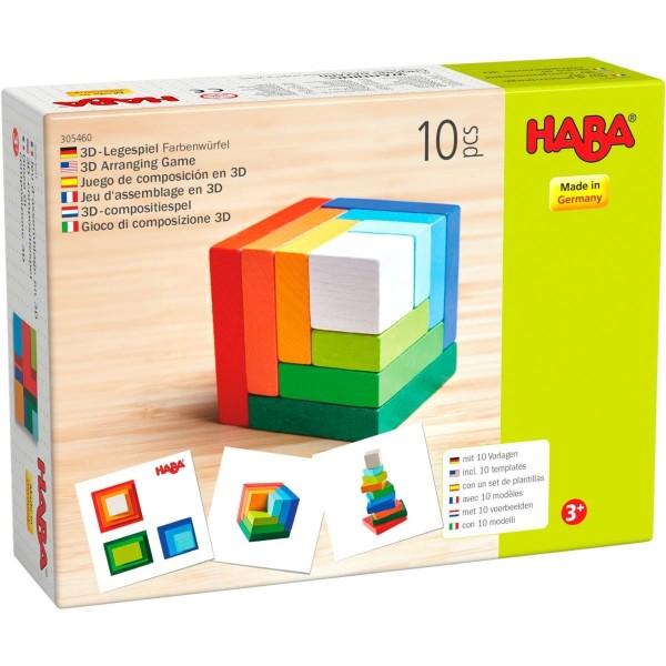 3D-Legespiel Farbenwürfel