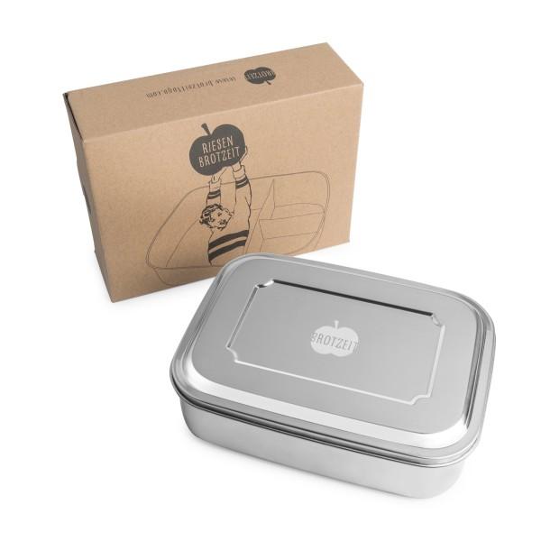 Brotzeit Riesen Lunchbox Brotdose Edelstahl
